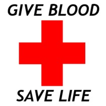 Red Cross give blood