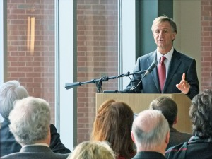 Gov. Bill Haslam praises Northeast State and the future Emerging Technologies Complex.