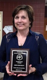 The PTK Region's Most Disguished Faculty Advisor award winner Jane Honeycutt.