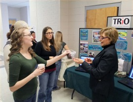 SSS director Teressa Dobbs at today's TRiO event.