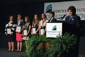 President Janice Gilliam and the Outstanding Student Award finalists.