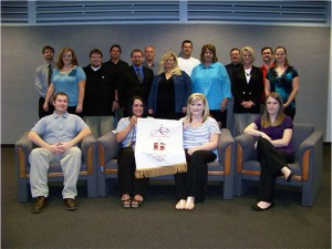 New Nu Sigma Chi chapter members of fall 2012.