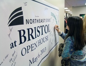 The open house brought out dozens of citizens demonstrating their support for Northeast State at Bristol.