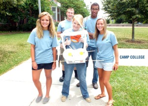 Camp College gives students the chance to bond with other students and staff to create a network of support.