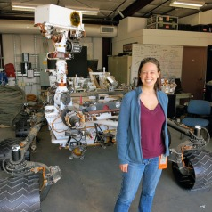 Dr. Melissa Rice and the MSL Rover