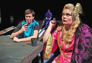 Telemachus (Austin Sparks) inspires the disdain of Athena (Hannah Duncan).