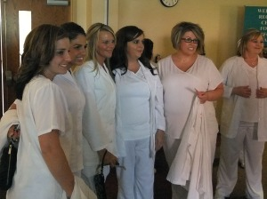 Nursing graduates completed two years of rigorous academic and personal demands.