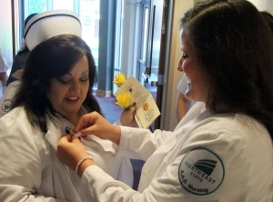 Northeast State nursing students celebrate their nursing pins.