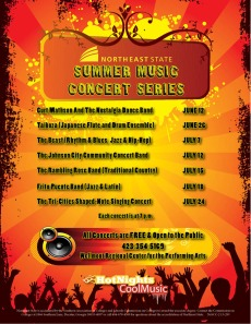 The Hot Nights, Cool Music concert lineup.