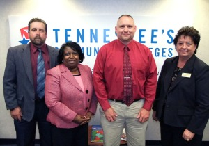 (from left) Sam Rowell, Linda Calvert, Chuck Morris, and Dr. Janice Gilliam.
