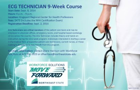 ECG tech class begins Sept. 8 at RCHP.