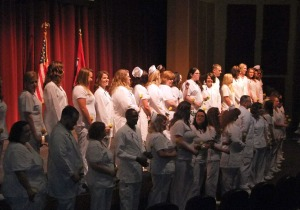 More than 60 nursing students received their pins Thursday evening.