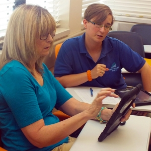 To explore the iPad's potential in the classroom, selected Northeast State faculty are attending training sessions during July.