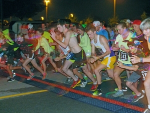 The Glow Run at Northeast State draws scores of runners.