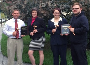 Northeast State debaters (from left) Paul Taylor, Victoria Hewlett, Jess Webb, and Joseph Hicks.