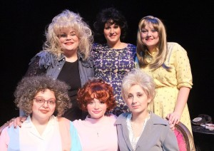 The cast (clockwise from top left) Hannah Duncan (Truvy) Caitlin Haltom (M'Lynn), Audrey Hammonds (Annelle), Meygan Proctor (Clairee), Shelby Minogue (Shelby), and Rachel Lawson (Ouiser).