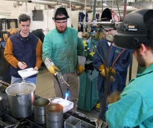Jeremy Maskew teaches the tools of the welding and metal fabrication trade.