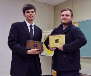 ETSU debate photo - Seth Manning (left) and Joseph Hicks