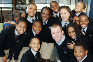 Ron Clark with kids