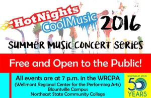 Summer Music Concert Series 2016 banner