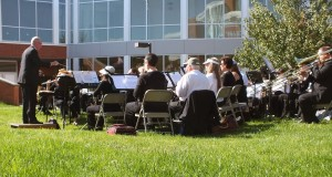 The Johnson City Community Band, here playing in the Amphitheater at the Blountville campus, performs at Northeast State Oct. 24.