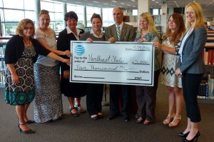 Alan Hill of AT&T presented a $5,000 contribution to Northeast State today to support non-traditional, underserved students preparing for jobs requiring technology-based skills.
