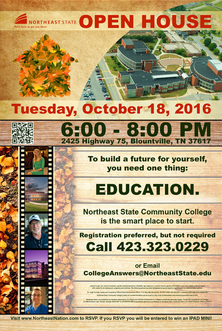 Northeast State hosts Fall Open House Oct  18 – NORTHEAST NATION