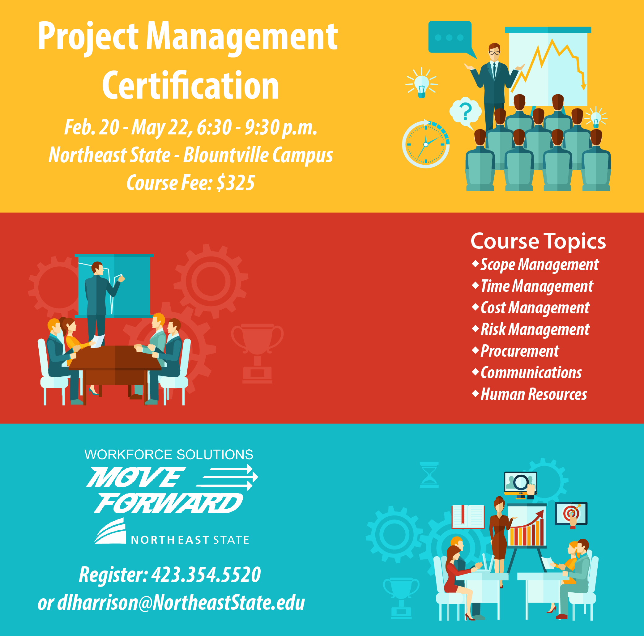 Project management course starts feb 20 northeast nation xflitez Gallery