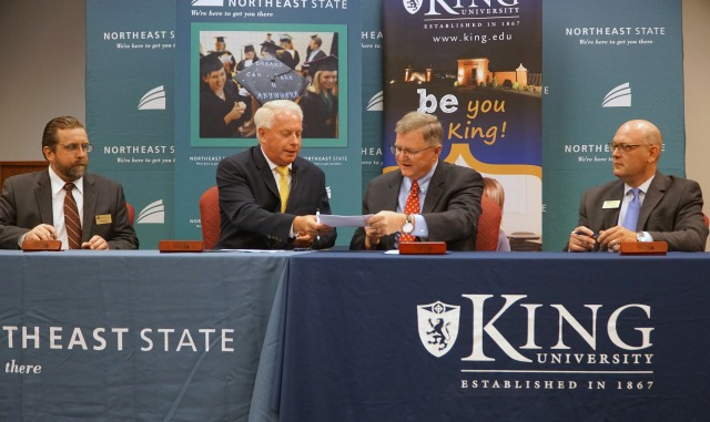 King NE State dual admission agreement
